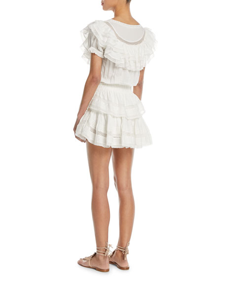Liv Tiered Ruffle Cotton Coverup Dress