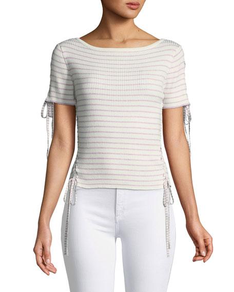 Asika Short-Sleeve Stripe Top