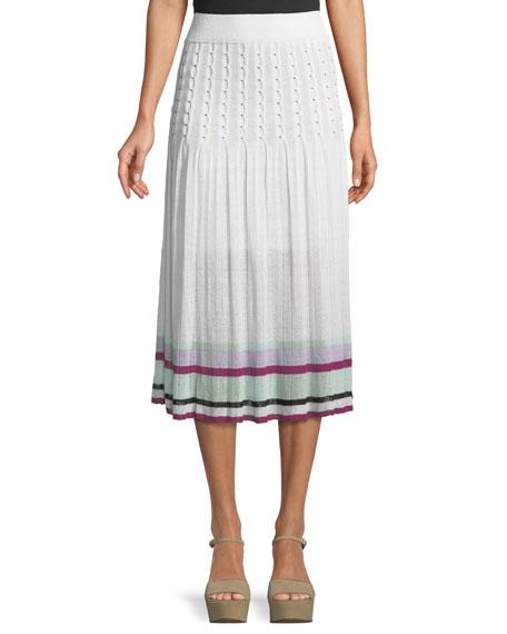 Amma Pleated High-Waist Midi Skirt