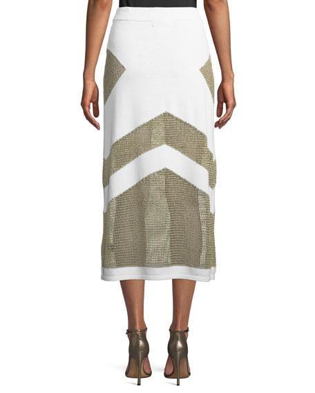 Sankore High-Waist Knit Midi Skirt