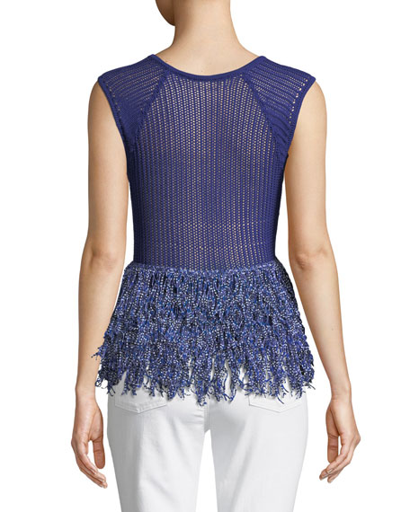 Maldini Knit Fringe Top