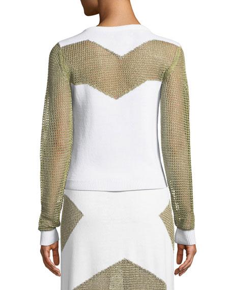 Sankore Metallic Open-Knit Sweater