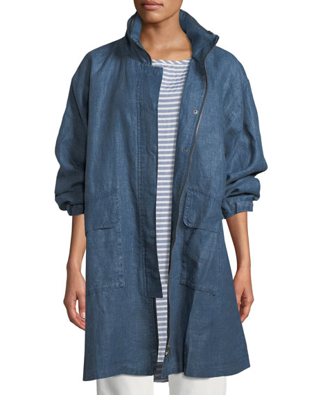 Treva Coated Linen Coat