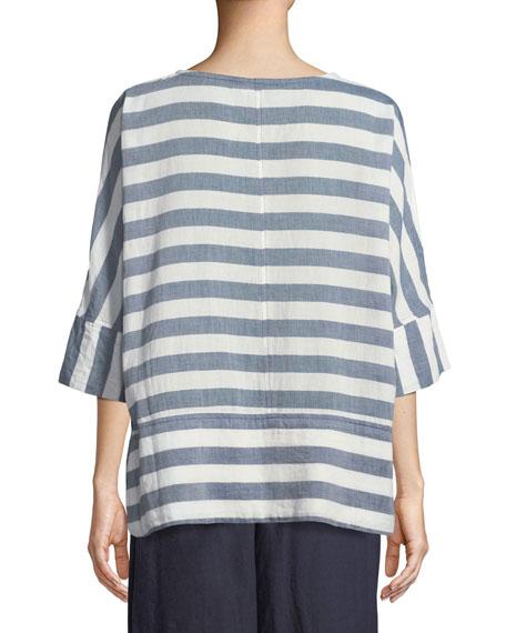 Delia Horizontal Striped Tunic