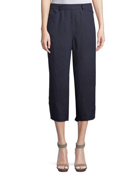 Pam Linen Cropped Culottes