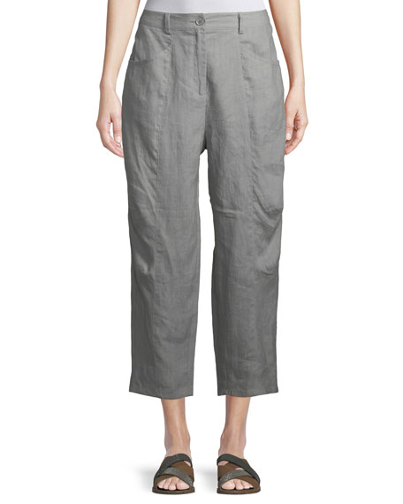 Masai Page Linen Cropped Trousers
