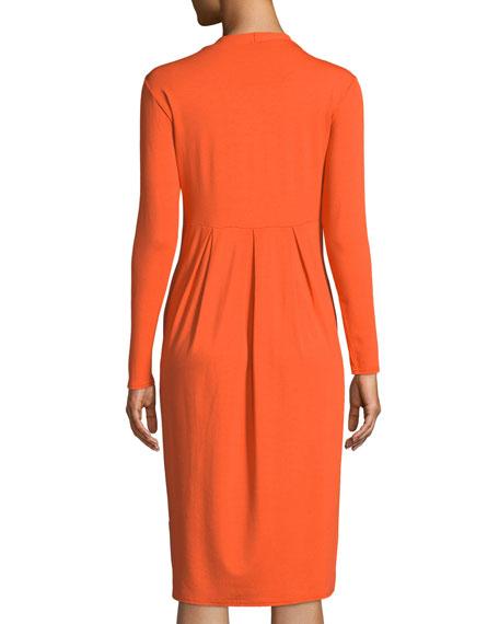 Neba V-Neck Jersey Knit Tulip Dress