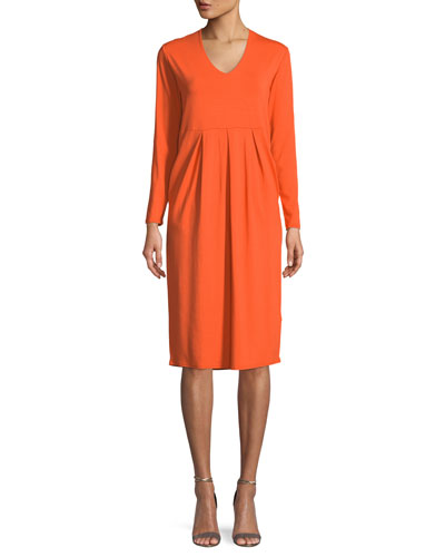 Neba V-Neck Jersey Knit Tulip Dress