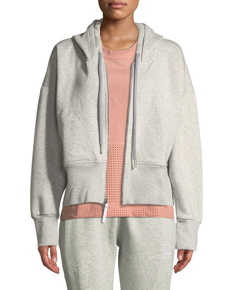 adidas by Stella McCartney Essentials Zip-Front Cotton Fleece
