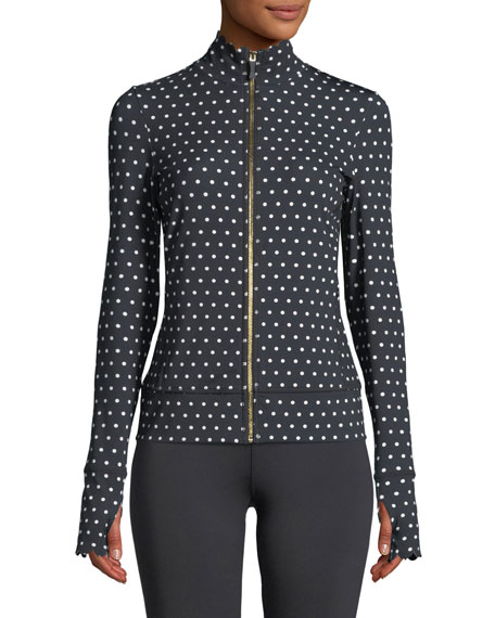 polka-dot scallop jacket