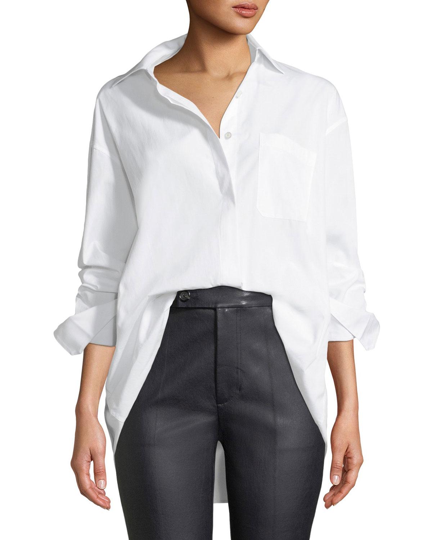 95c0ffb15f57 Helmut Lang Oversized Button-Down Poplin Shirt | Neiman Marcus