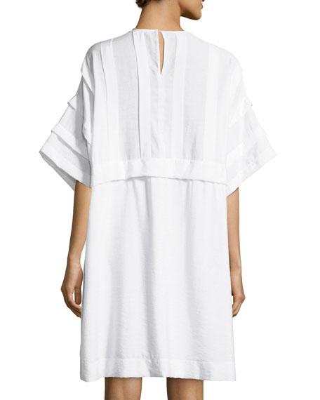 Ruffle-Top Self-Tie Dress