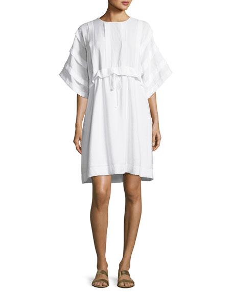 See By Chloé  RUFFLE-TOP SELF-TIE DRESS
