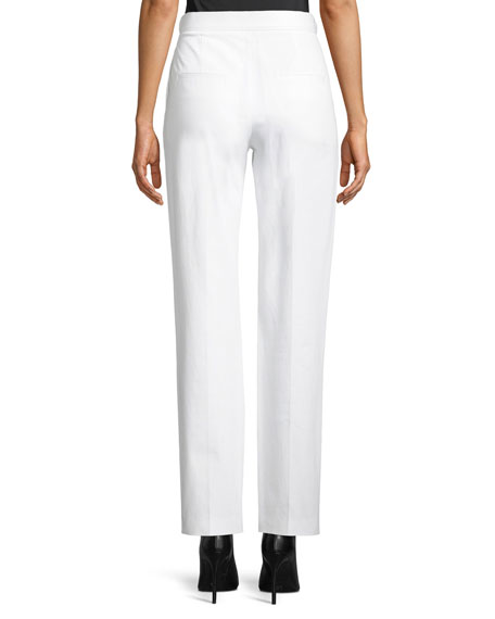 Straight-Leg Cotton Pants