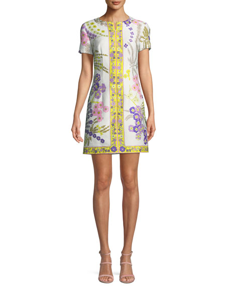 Trina Turk Arboretum Crescent Drive Ottoman Mini Dress