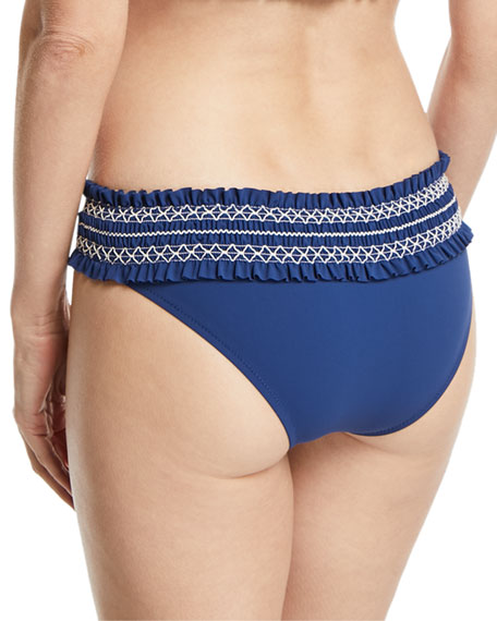 Costa Embroidered Hipster Swim Bikini Bottom