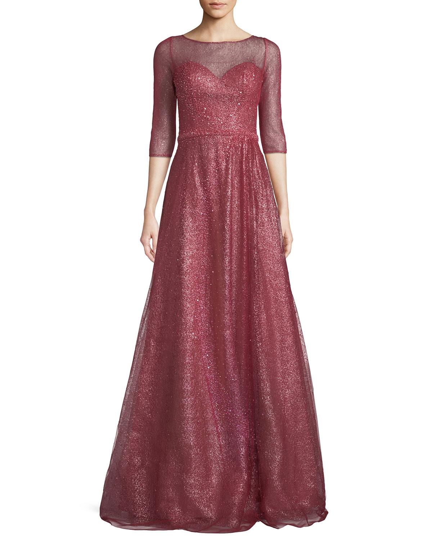 Sweetheart Neckline Gown | Neiman Marcus