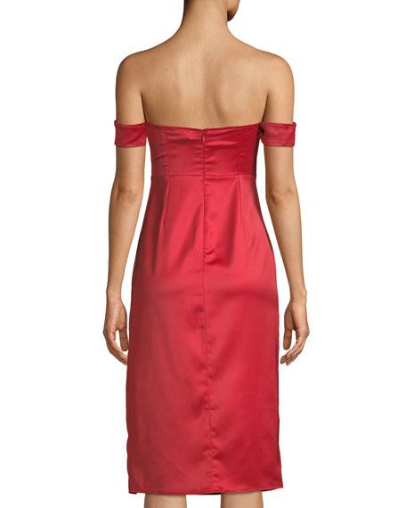 Meghan Corset Bustier Cutout Cocktail Dress