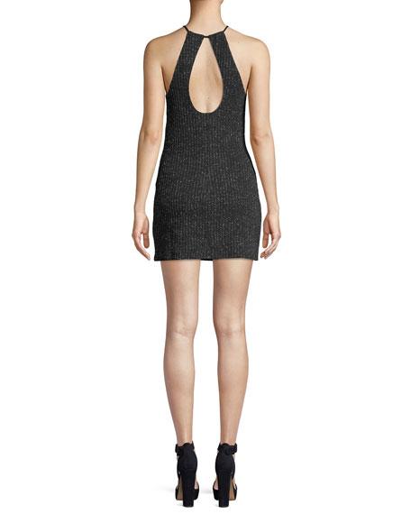 Cami Metallic Halter Mini Dress