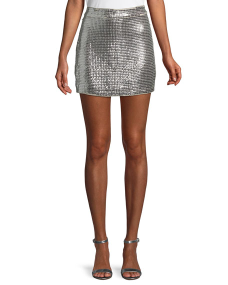 Nbd ALWAYS THIS LATE SEQUIN MINI SKIRT