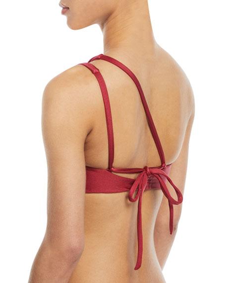 Kris One-Shoulder Solid Swim Top
