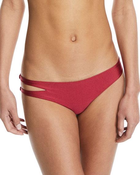 Kris Side-Cutout Solid Swim Bikini Bottom