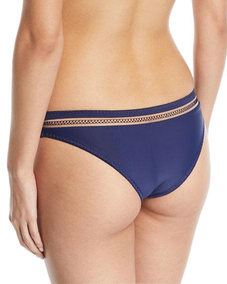 Veda Solid Swim Bikini Bottoms w/ Whipstitch Trim