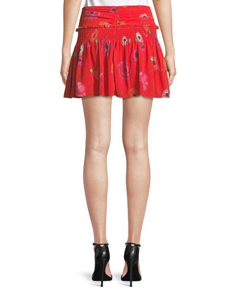 Mona Floral Mini Skirt