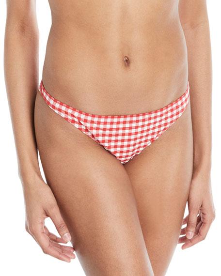 Gingham Hipster Swim Bikini Bottoms