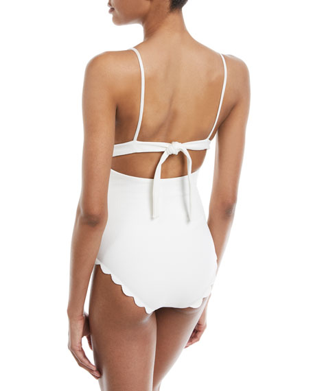 Santa Clara Scalloped One-Piece Maillot Swimsuit