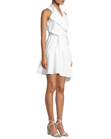 Sleeveless Cotton Wrap Dress