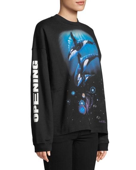 Oceanic-Creatures Cozy Crewneck Sweatshirt