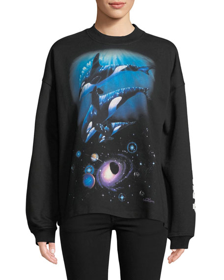 Oceanic Creatures Cozy Crewneck Sweatshirt by Opening Ceremony