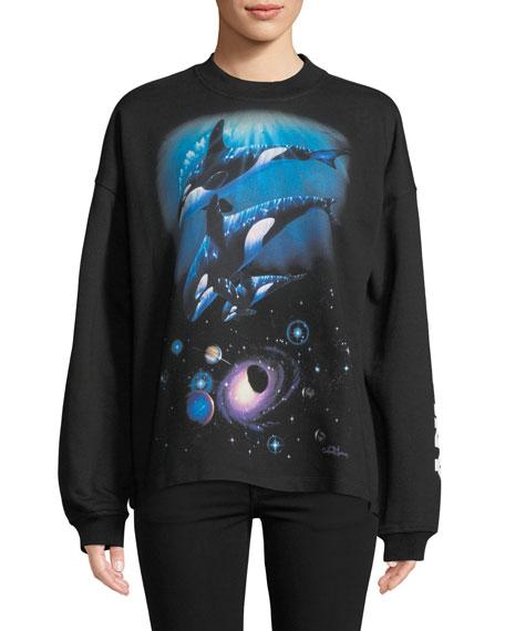 Opening Ceremony Oceanic-Creatures Cozy Crewneck Sweatshirt