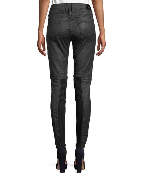 Cargo Moto Skinny-Leg Studded Pants