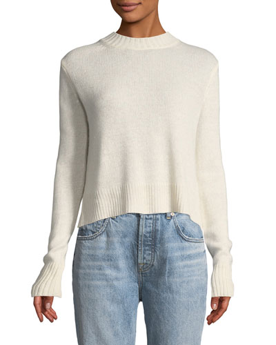 Long-Sleeve Pullover Sweater with Back Ring Detail