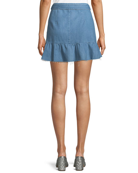 Nivelle Denim Tulip Skirt