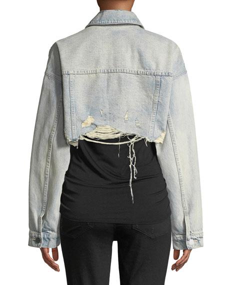 Blaze Crop Cutoff Denim Jacket