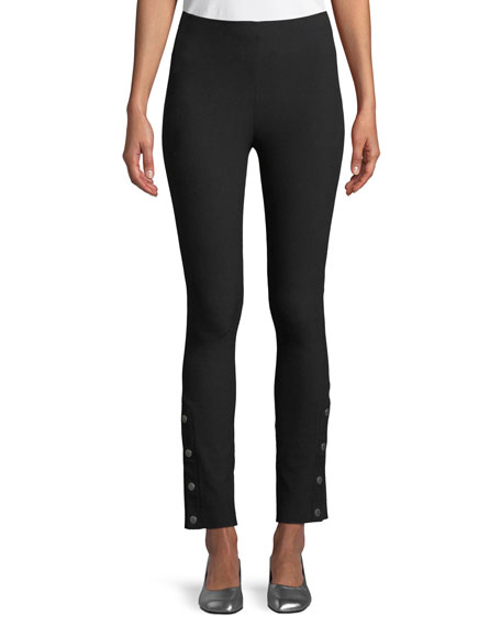 Rag & Bone Simone High-Rise Slim Snap Pants