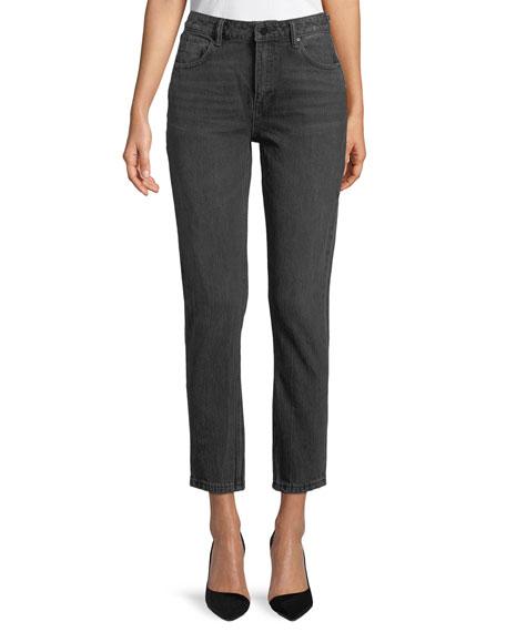 Cult Side-Zip Straight-Leg Jeans