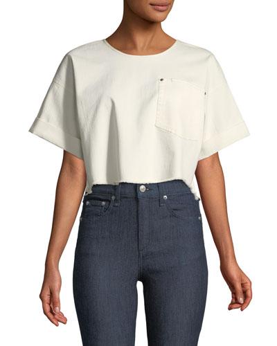 Tinsley Oversized Short-Sleeve Denim Top