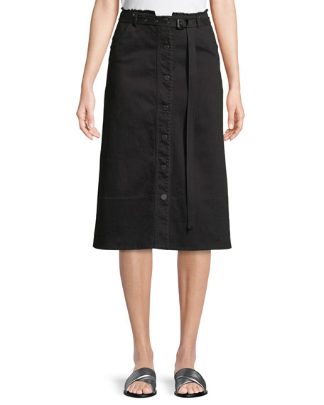 Elizabeth & James Merritt Slub Denim A-Line Skirt