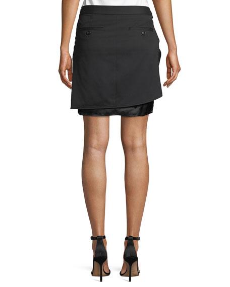 Wool Sarong Mini Skirt