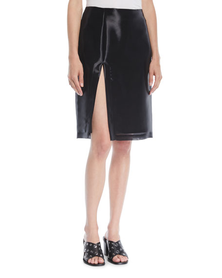 Shayne Oliver Split Knee-Length Skirt