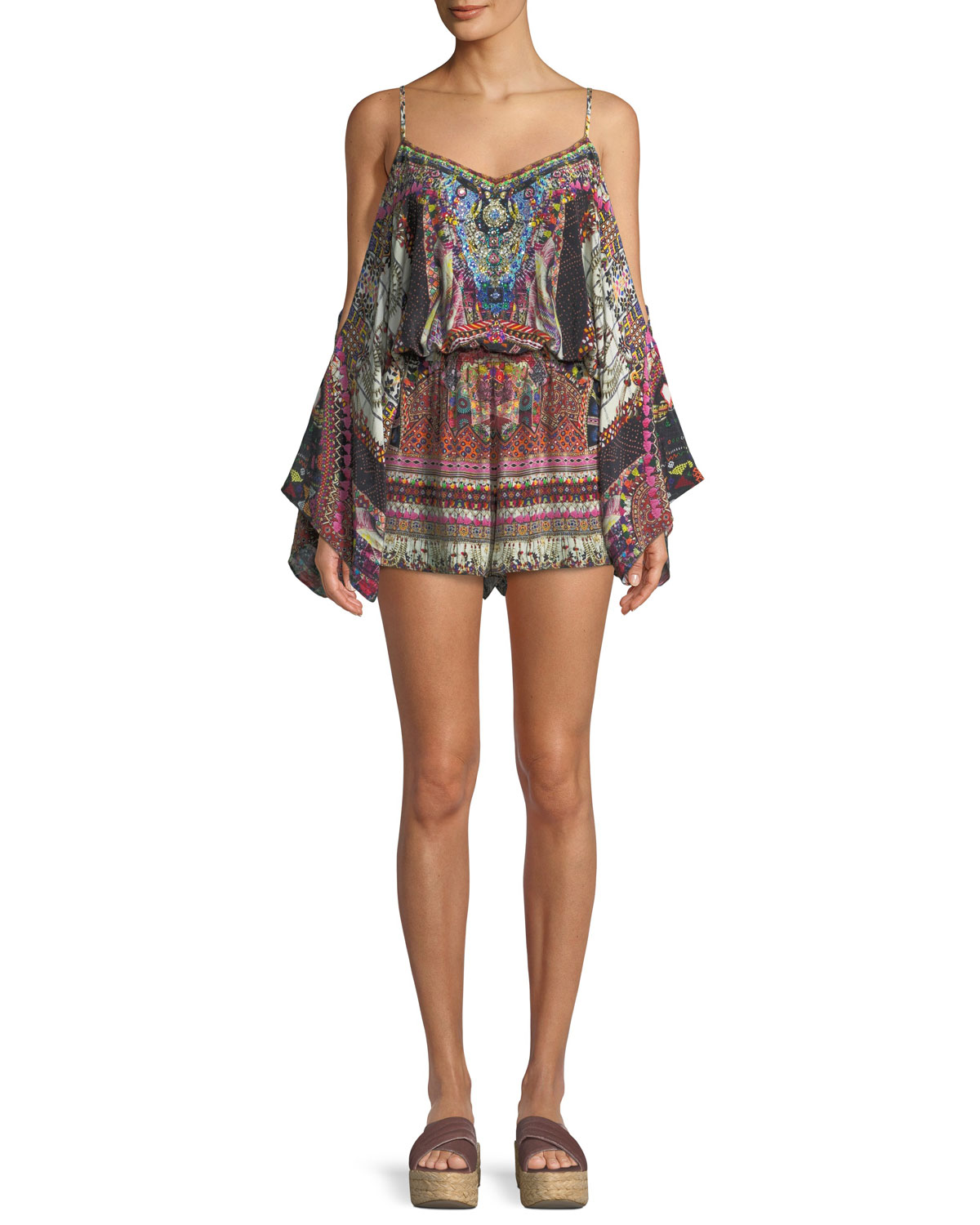 d6efc609e83 Camilla Tiny Dancer Drop-Shoulder Playsuit