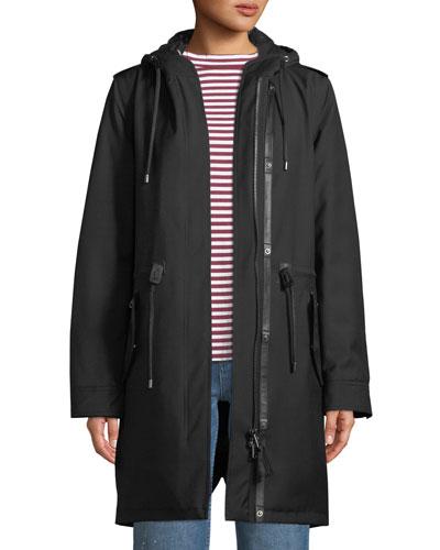 Renina Two-in-One Down-Filled Anorak Coat w/ Rain Shell
