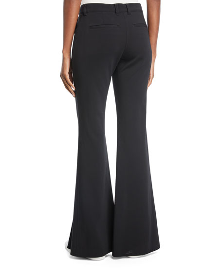 Capen Flared-Leg Split-Hem Pants