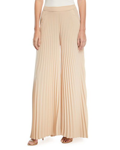 Donovan Pleated Wide-Leg Pants