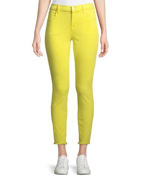 J Brand Alana Cropped Skinny Jeans w/ Frayed