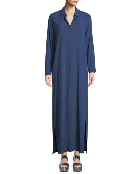 3x1 Faye Long-Sleeve Button-Front Maxi Dress